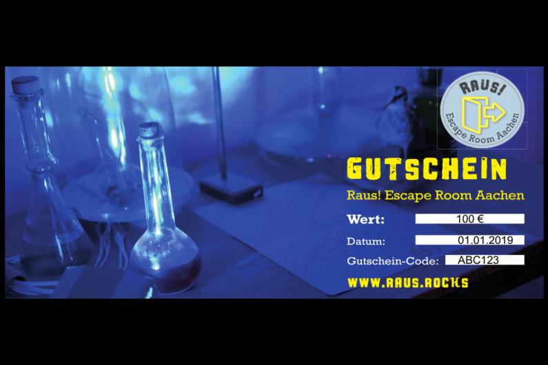 Raus! Escape Room Aachen - Gutschein